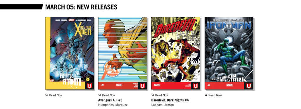 You'd be forgiven for expecting Marvel Unlimited to only offer old comics. However, many are only a few months old.