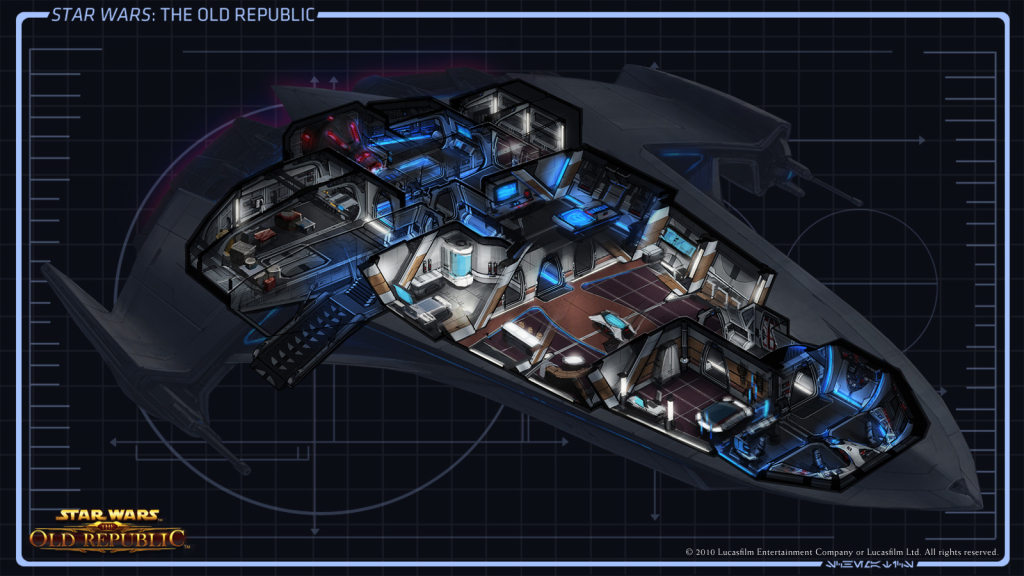 As an Imperial Agent you also get access to one of the roomiest ships too.