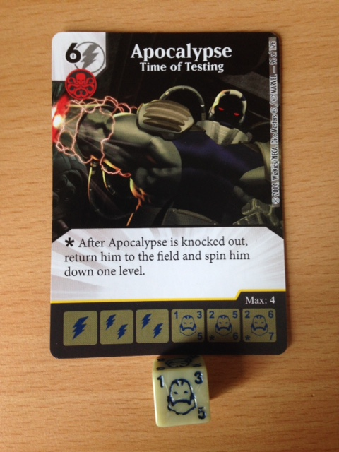 Apocalypse became a popular choice in our games, he initially popped up from an Uncanny X-Men booster pack.