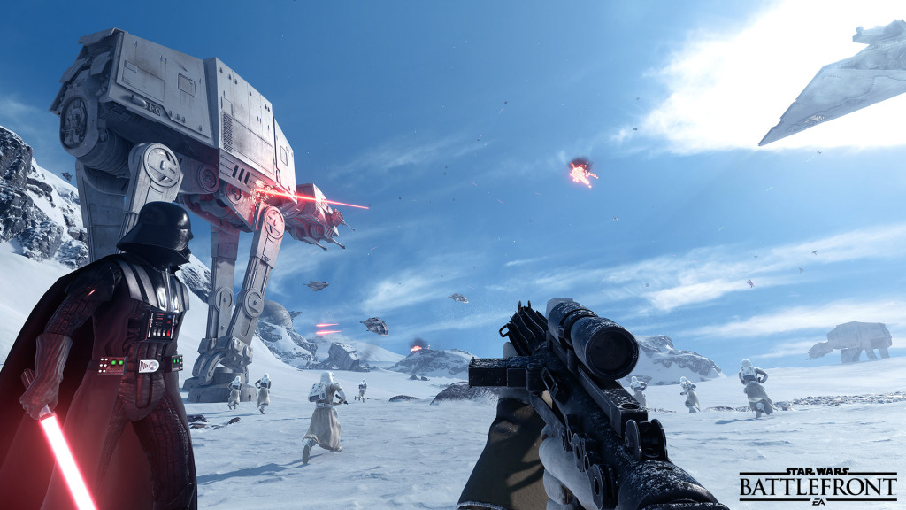 We've seen Hoth in a lot of Star Wars games, but here it finally looks like the Hoth we remember in the movies.