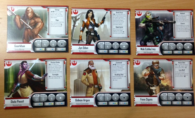 The hero cards contain everything you need to know about your character.