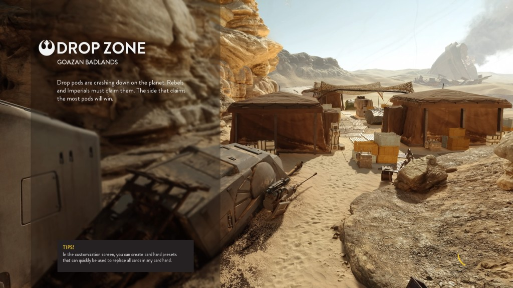 All of Battlefront's small-scale modes can be played on Badlands.