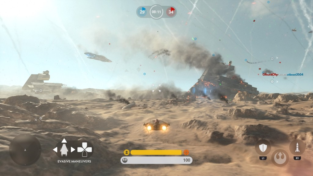 Both of Jakku's maps are covered with signs of battle.