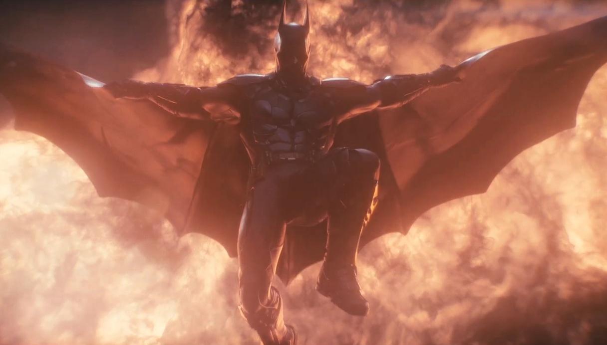 Dark Knight Symbol On Fire